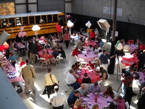 In Alabama, Transportation South, a provider of school buses, held a Love the Bus celebration on Valentine's Day to honor the state's bus drivers. Nearly 150 people attended.
