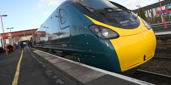 The first of the revolutionary tilting Pendolino trains entered service on the London to Glasgow...