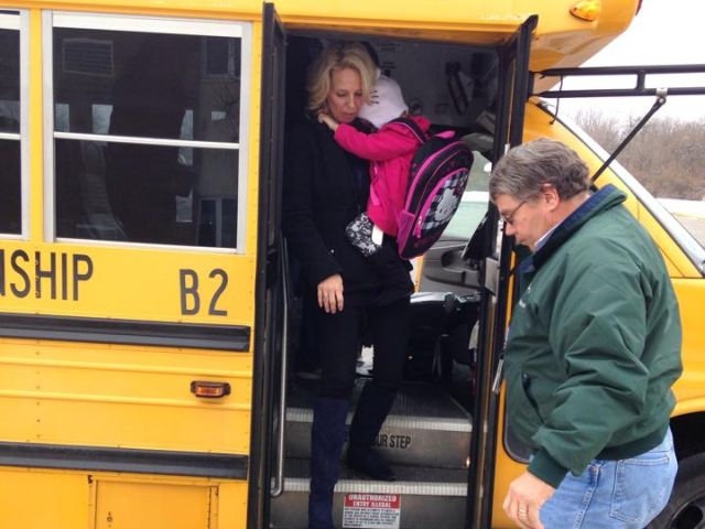 2-year-old with cancer gets to ride the school bus