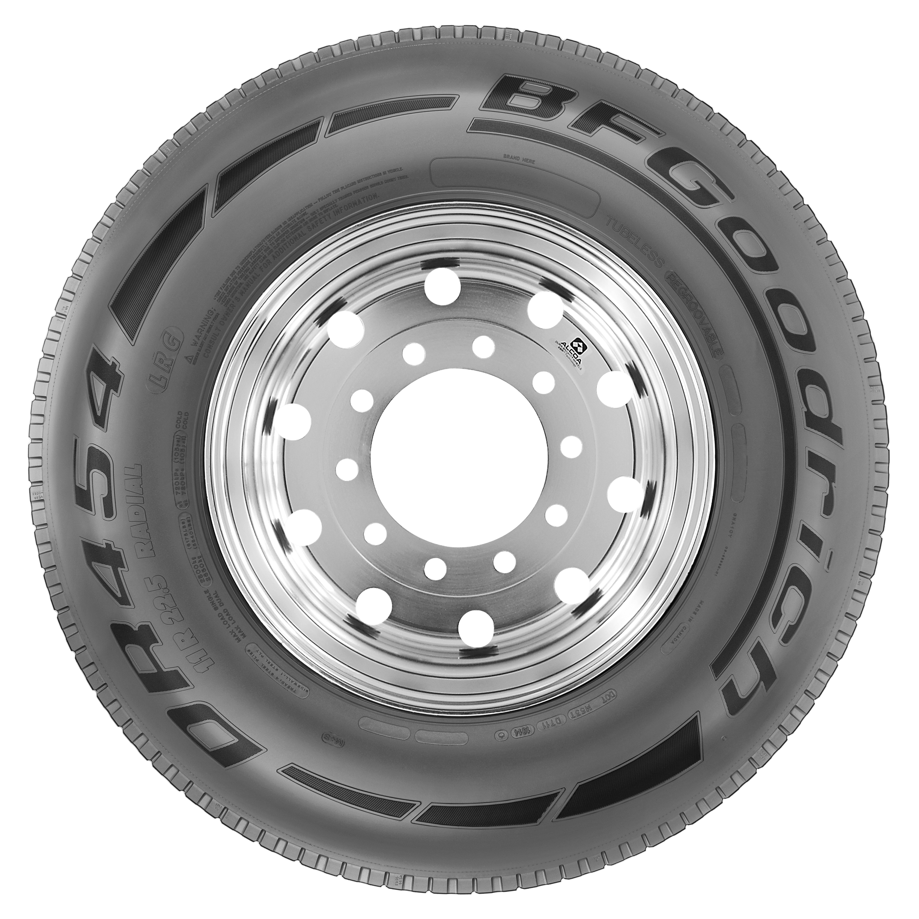 New Fuel-Effecient BFG DR454 Drive Tire