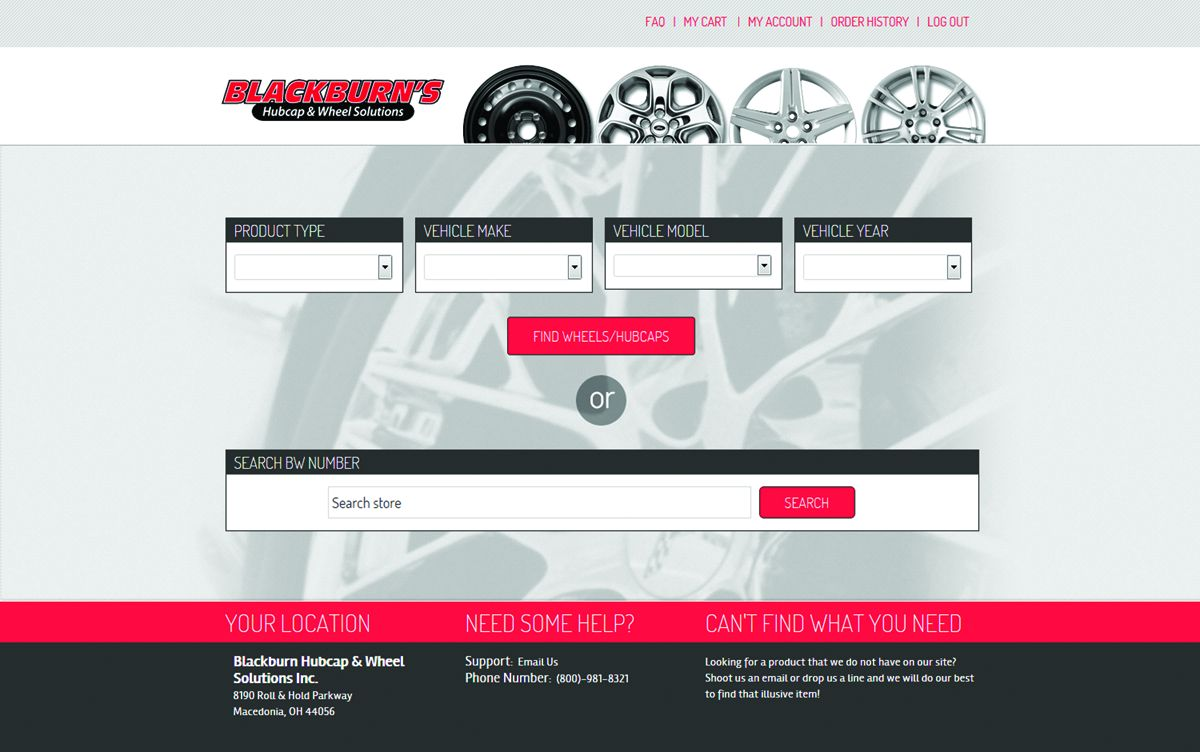 Blackburn's Website Provides Access to More Than 100,000 Parts
