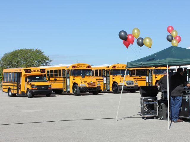 Texas Event Showcases Range of Blue Bird School Buses