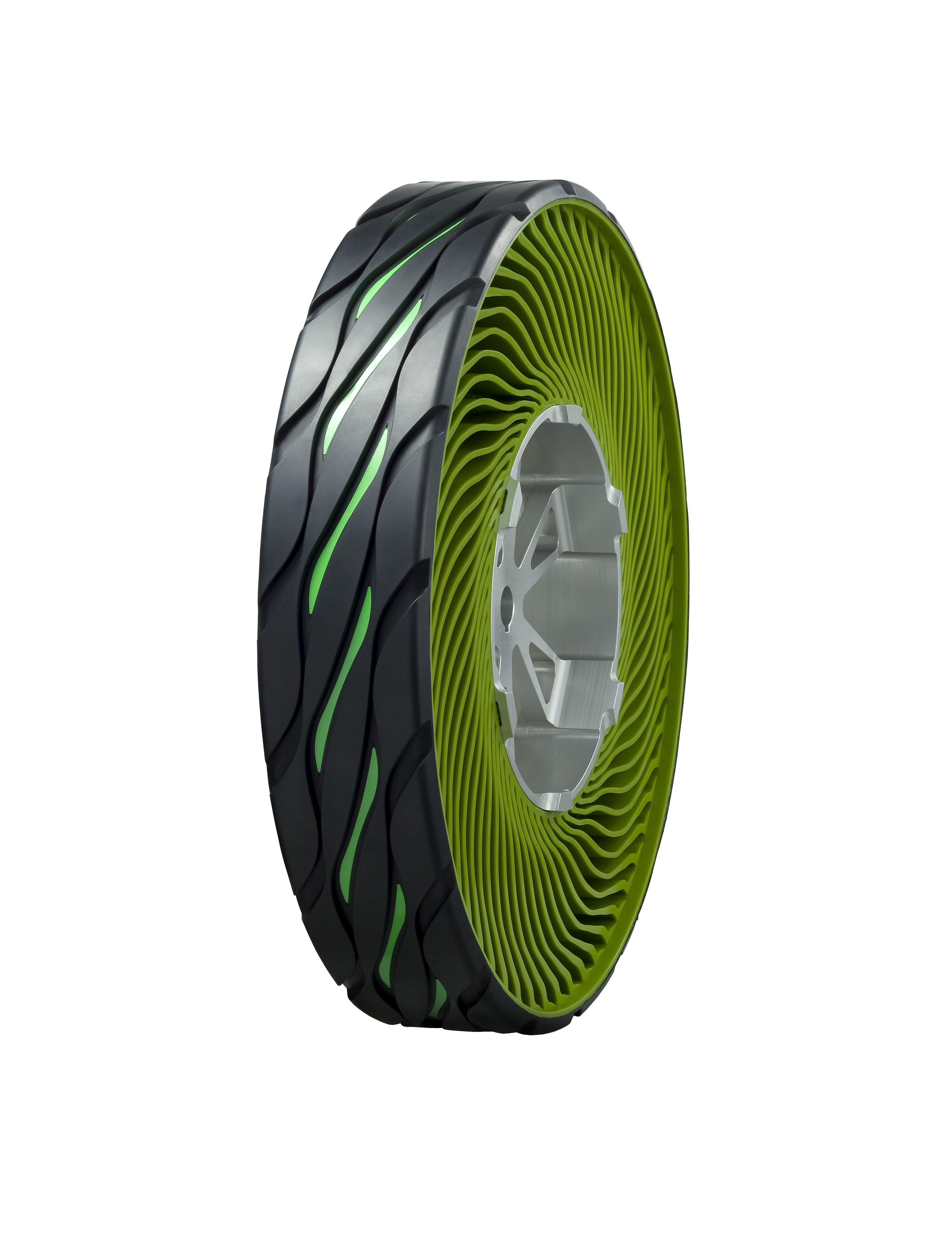 Bridgestone's airless tire features resin spokes
