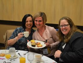 On the second day, attendees started their morning with breakfast, coffee, and sweet pastries.
