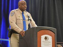 California Highway Patrol Commissioner Warren Stanley gave the second keynote speech, in which...