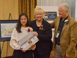 Greg and Donna Marvel of TransTraks recognizedEden Choi, a sixth grade student from Fairmont...