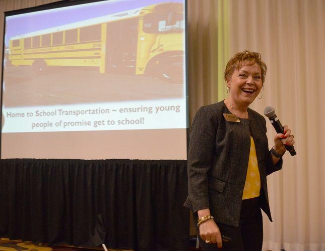 Keynote speaker Lisette Estrella-Henderson, superintendent for Solano County Schools, fueled the...