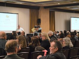 More than 500 attendees gathered before events kicked off on the first morning of the conference.