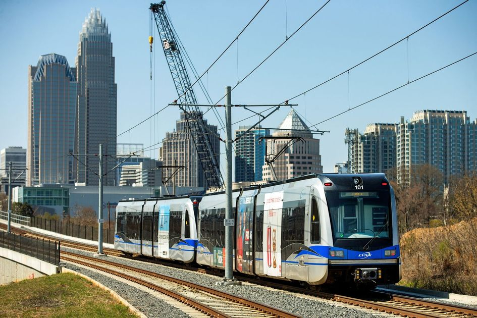 Charlotte Light Rail Trolley Photograph by Joseph C Hinson