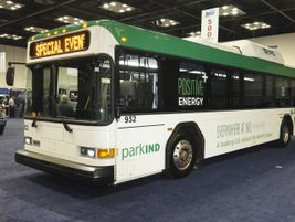 CCW's refurbished battery-electric bus for the Indianapolis Airport.