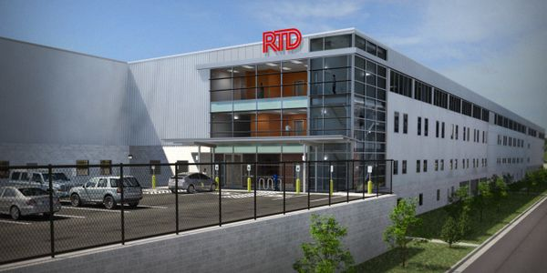 RTD Denver's new commuter rail maintenance facility will feature maintenance areas top-lit by...