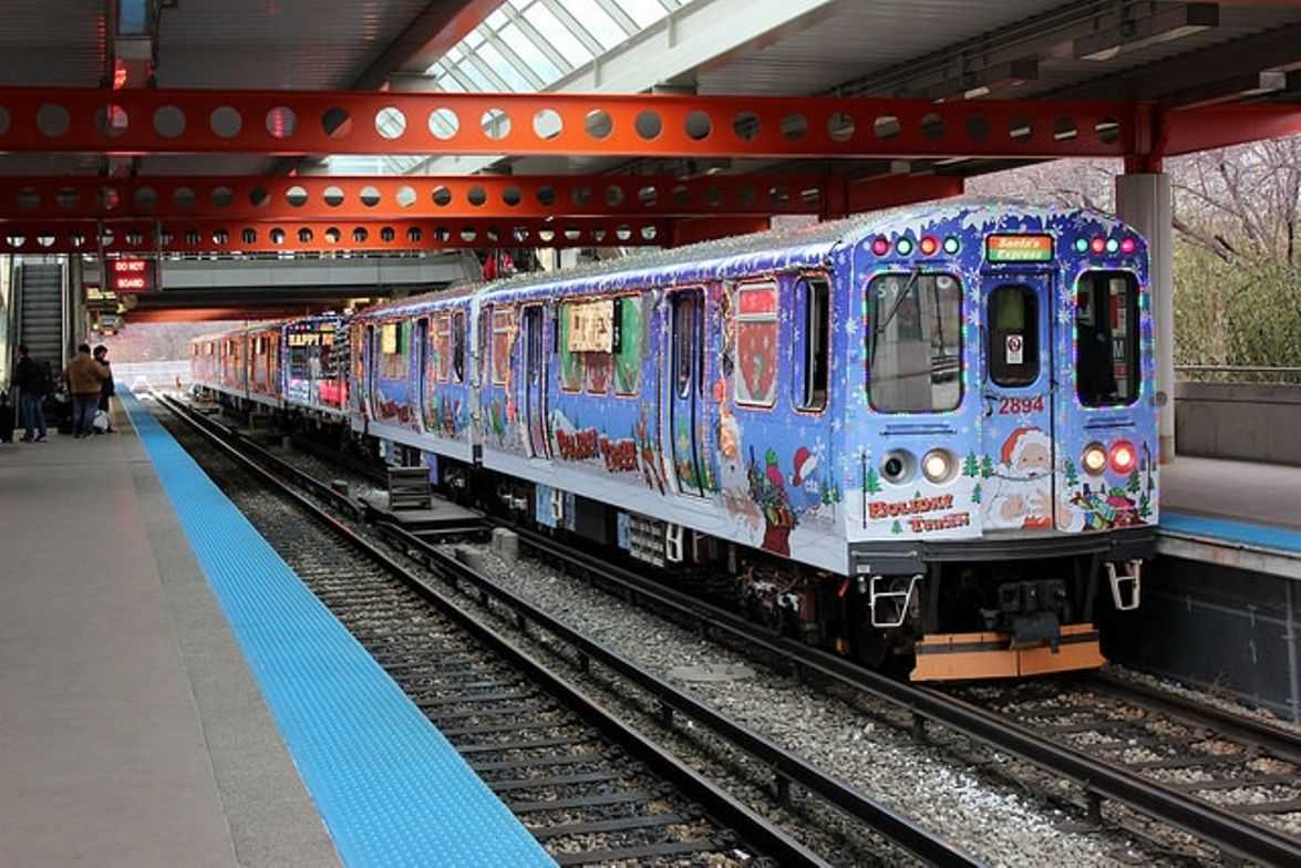 Chicago Transit Authority's 2014 holiday train.