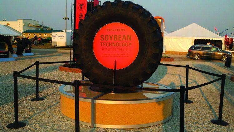 Firestone Farm Tire Has 10% Soybean Oil