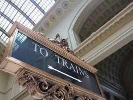 Chicago Union Station 'To Trains' sign - Photo: Matt' Johnson - 2014 - Flickr