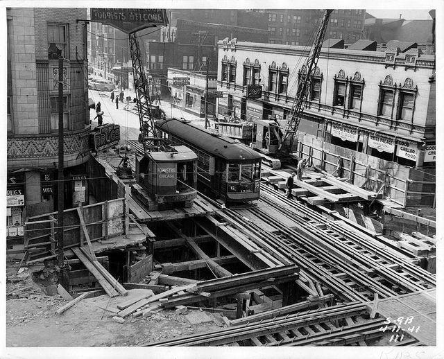 Chicago streetcar trestles - 1941 - cta web - Flickr