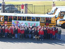 "Parma (Ohio) City School District held its second ""Stuff the Bus"" event on Dec. 2. School bus..."
