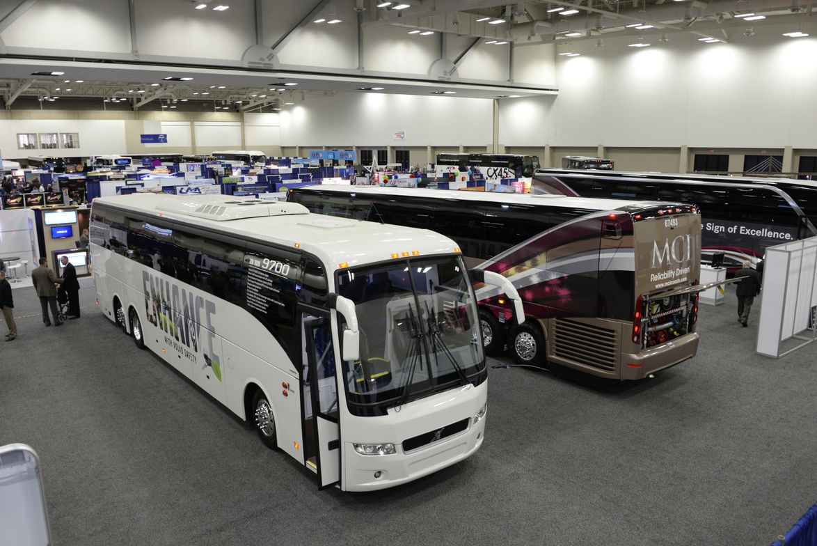 Thousands attended this year's Marketplace, which featured motorcoach offerings from Volvo and...