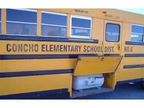 A propane tank that will accommodate at least 25 percent of the bus' fuel capacity is required for operating the Powershot 2000. John Bedway, transportation director at Concho Elementary School District #6, said the system gave this bus more power.