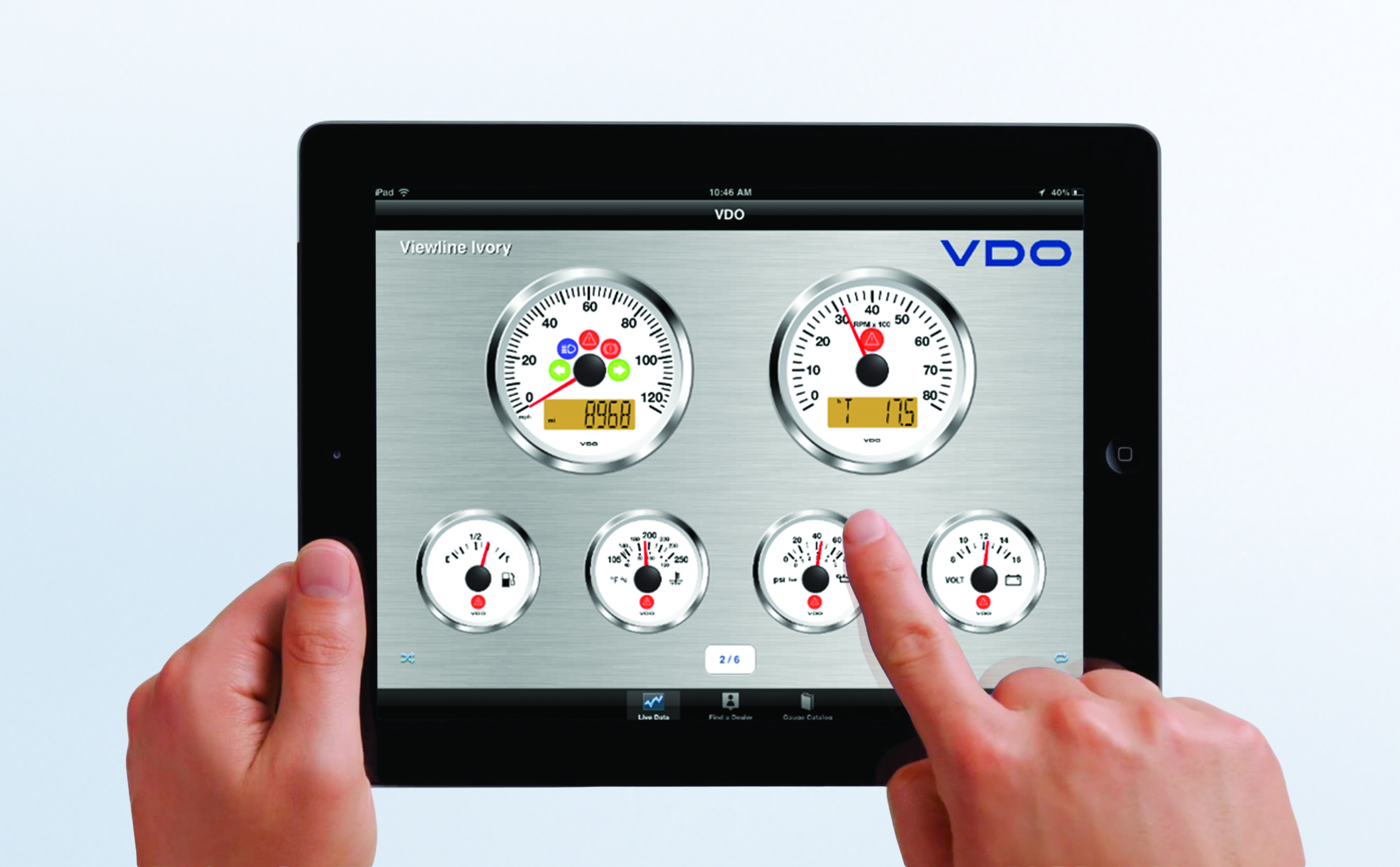 Gauges2Go App Simulates VDO Dashboard