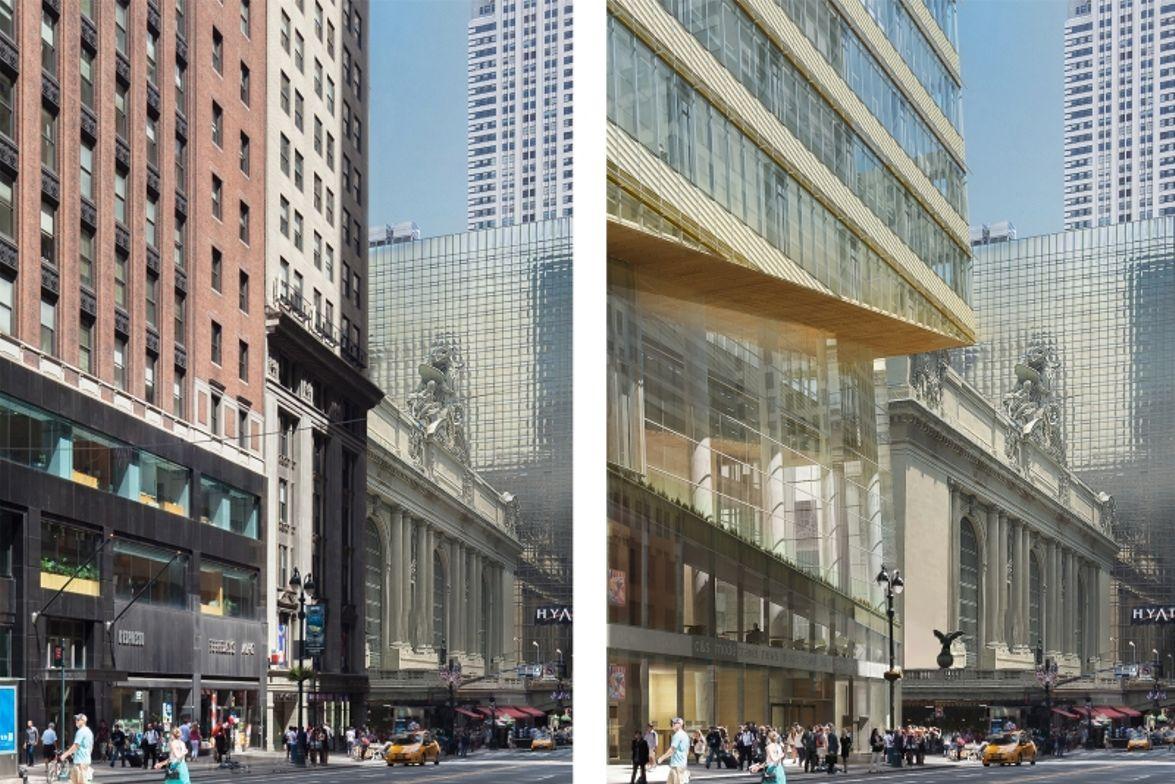 Corner of 42nd Street and Madison Ave. - Renderings courtesy Kohn Pederson Fox Associates