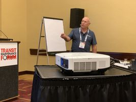 Presentations at this year's TMF, included talks from Cummins and Allison Transmission officials.