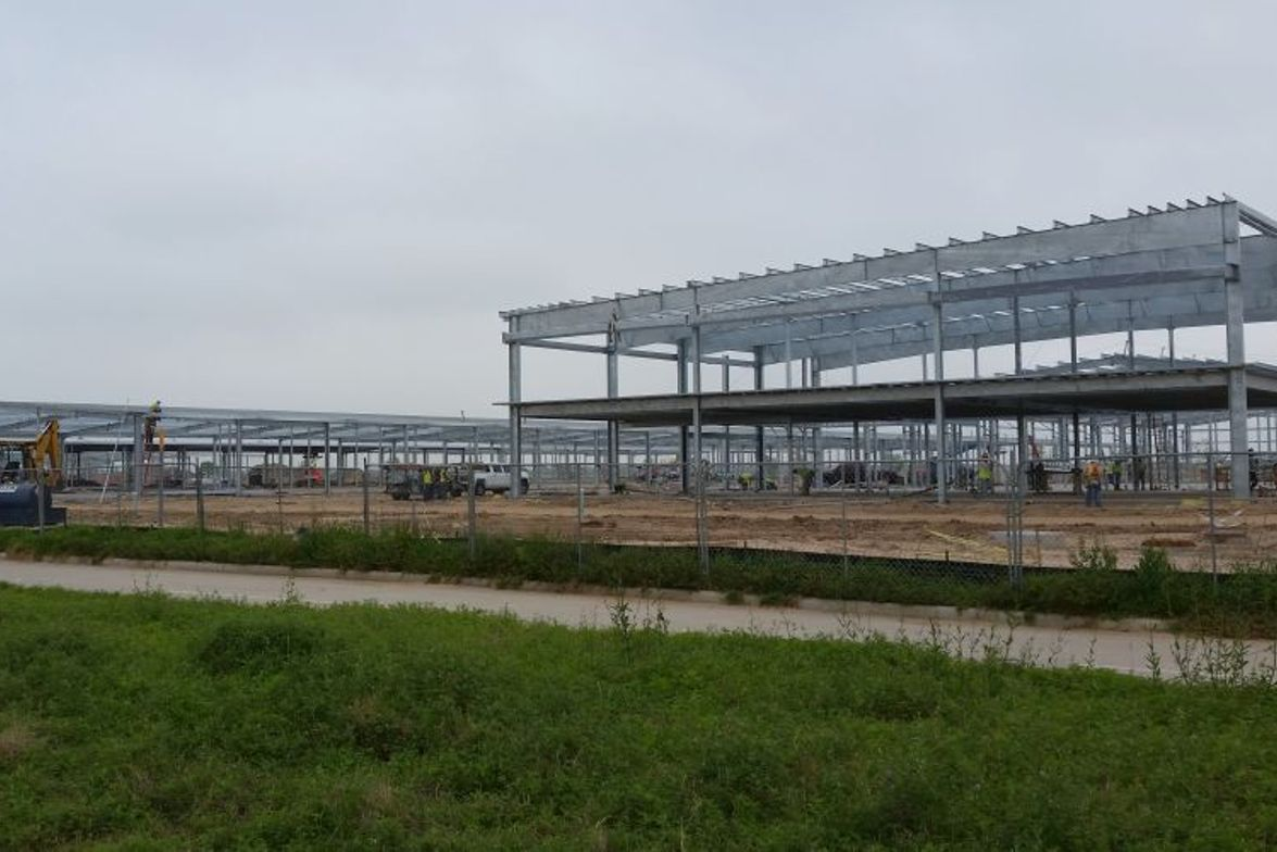 These photos show the development of the fifth transportation center for Cypress-Fairbanks...