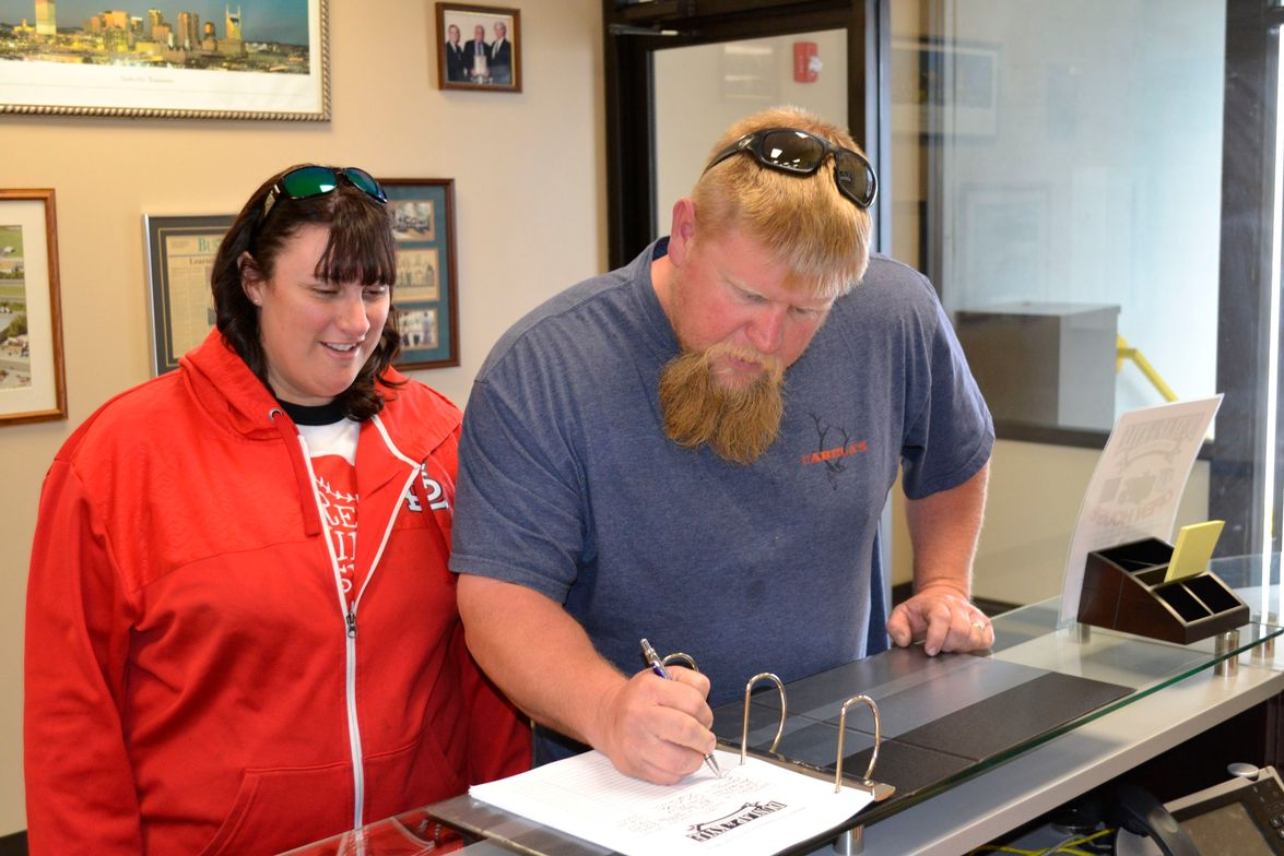 Chris and Heather Barrett of Barrett's Tire, a two-store operation in Dover and Erin, Tenn.,...