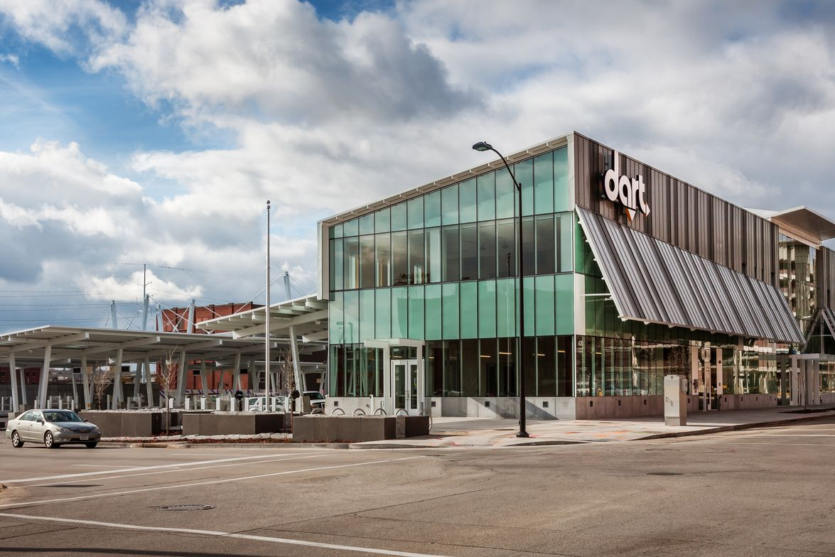 Des Moines Area Regional Transit Authority's (DART) Central Station, located in downtown Des...