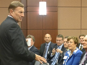 U.S. Rep. John Mica (R-Fla.), who is chair of the House Transportation and Infrastructure Committee, spoke to NSTA members during their Capitol Hill Fly-In last week.