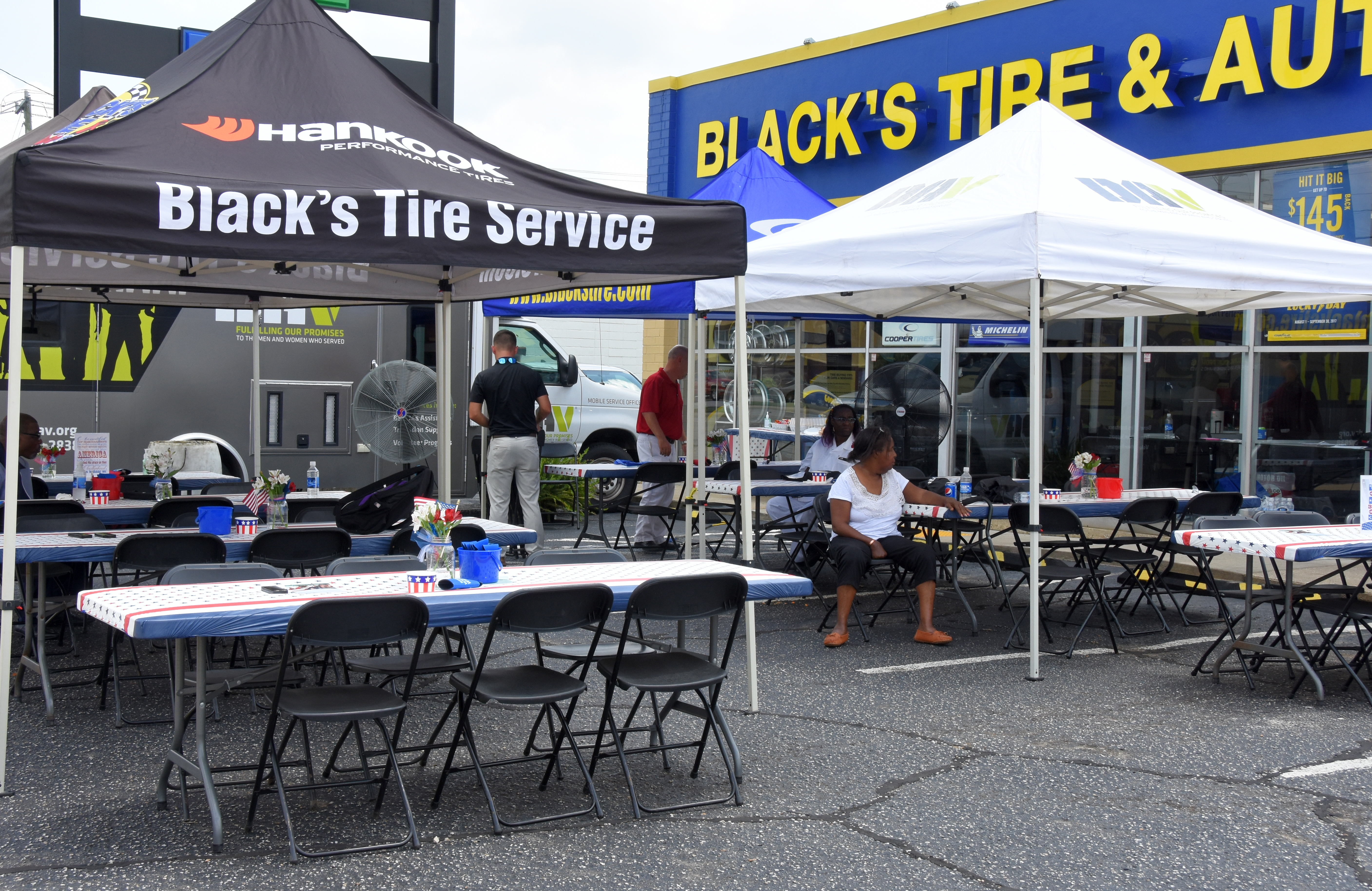 Photos: Black's Tire Hosts Hankook and Disabled American Veterans