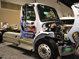 Freightliner featured a prototype for its S2C chassis for the propane autogas market.