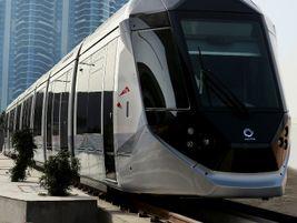 The Dubai tramway line features 11 Alstom Citadis vehicles using catenary-free power supply...