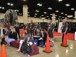 Big O Tires took its western theme seriously. During business talks, dealers took seats on hay...