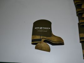 Drink cozies came in the shape of cowboy boots when Big O Tires dealers met in San Antonio.