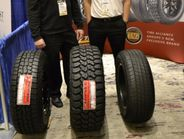 The Sentury Tire Americas team of Patrick Hyland, left, and Nick Gutierrez, was ready to greet...