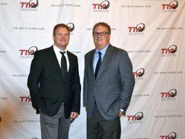 Brothers Mark, left, and Scott Rhodes, the recipients of Modern Tire Dealer's 2017 Tire Dealer...