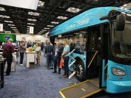 New Flyer was on hand to showcase its electric bus.