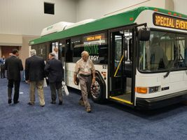 CCW showcased refurbished electric buses that are used at the Indianapolis Airport.
