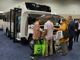 Attendees got to take a first look at Micro Bird Commercial's D-Series electric vehicle.