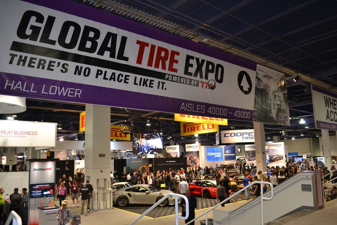 The Global Tire Expo filled its usual spot on the lower floor of the South Hall of the Las Vegas...