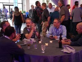 Networking events enabled attendees to get to know each other and forge relationships.