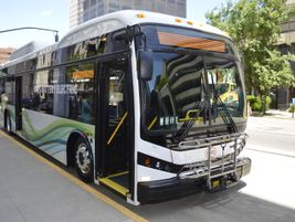 BYD featured its latest battery-electric bus.