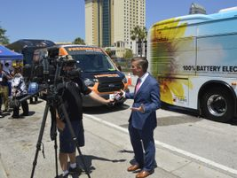 Pinellas Suncoast Transit Authority CEO Brad Miller spoke to the local media about the impending...