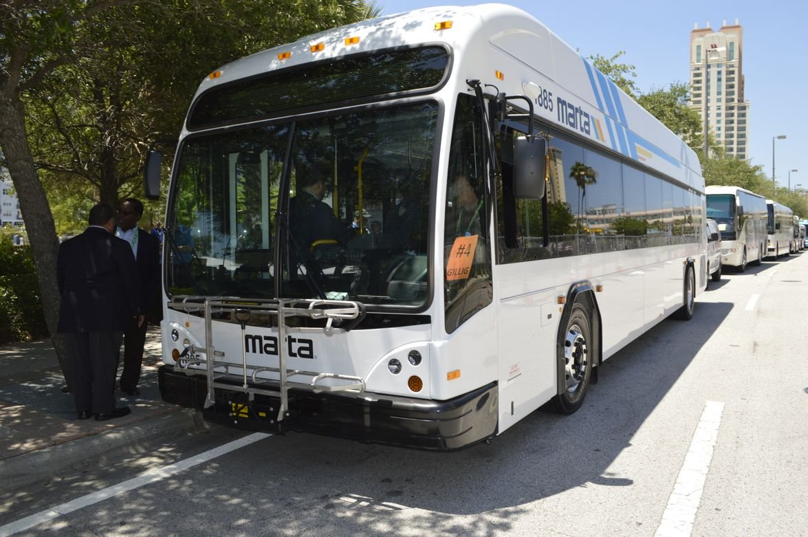 Gillig's BRTPlus is available in 29-, 35-, and 40-foot lengths and powered by Clean Diesel,...