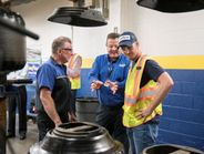 Dale Earnhardt Jr. took a full factory tour with Goodyear in Akron. The retired NASCAR driver...