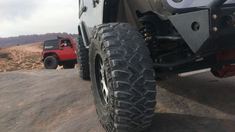 Kumho dealers evaluated the new Road Venture MT71 during an off-road event near Moab, Utah, last...