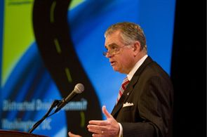 In the U.S. DOT's summit on distracted driving, Transportation Secretary Ray LaHood said a forthcoming rulemaking will seek to disqualify school bus drivers convicted of texting while driving from maintaining their commercial driver's licenses.