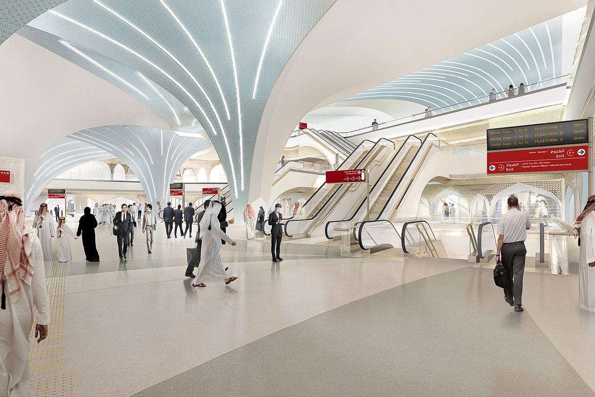 Doha Metro Network renderings courtesy UNStudio.