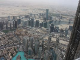 View from the 124th floor of the Burj Khalifa. Photo: Alstom Transport/F.McLoughlin