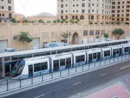 Dubai tram on JBR 2 station close to the Marina District. Photo: Alstom Transport/L.Tissot